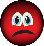 Trauriges Gesicht Stockbild
