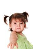 Trauriges Gesicht des kleinen Mädchens Stockfotografie