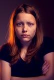 Trauriges jugendlich Mädchen Lizenzfreies Stockfoto