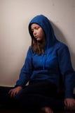 Trauriges jugendlich Mädchen Lizenzfreie Stockfotos