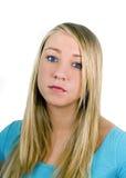 Trauriges jugendlich Mädchen Stockbilder