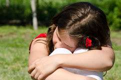 Trauriges junges Mädchen Stockbilder