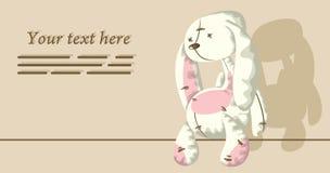 Trauriges Kaninchen lizenzfreie abbildung