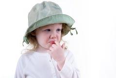 Trauriges kleines Mädchen foto de archivo libre de regalías