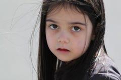 Trauriges kleines Mädchen Stockfotografie