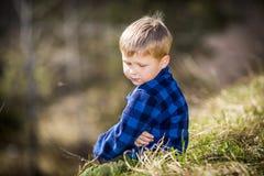 Trauriges Little Boy Stockbild