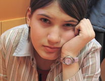 Trauriges Mädchen Stockfoto