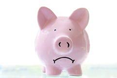 Trauriges piggy Lizenzfreie Stockbilder