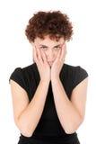 Trauriges Portrait der jungen Frau Lizenzfreie Stockbilder