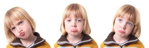 Trauriges Umkippenkind getrennt stockbilder