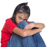 Trauriges und deprimiertes junges asiatisches Mädchen III Lizenzfreie Stockfotografie