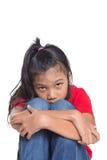 Trauriges und deprimiertes junges asiatisches Mädchen V Stockfotos