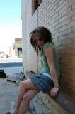 Trauriges und deprimiertes Mädchen Stockbild