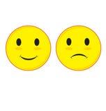 Trauriges und lächelndes Gesicht Lizenzfreies Stockfoto
