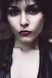 Trauriges weibliches Gesicht #01 Lizenzfreies Stockfoto