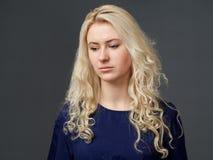 Trauriges weibliches Gesicht #01 Lizenzfreie Stockbilder