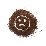 Trauriges Zeichen des granulierten Kaffees Lizenzfreie Stockbilder