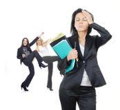 Traurigkeit und Glück im Geschäft Lizenzfreies Stockfoto