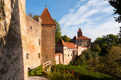 Trausnitz Castle. Is a medieval castle situated in Landshut, Bavaria in Germany. It was the home of the Wittelsbach dynasty, and it served as their ducal Stock Photo