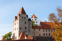 Trausnitz Castle. Is a medieval castle situated in Landshut, Bavaria in Germany. It was the home of the Wittelsbach dynasty, and it served as their ducal Stock Photography