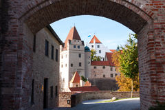 Trausnitz Castle. Is a medieval castle situated in Landshut, Bavaria in Germany. It was the home of the Wittelsbach dynasty, and it served as their ducal Royalty Free Stock Image