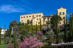 Trauttmansdorff castle. Meran, South Tyrol Stock Photos