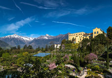 Trauttmansdorff castle. Meran, South Tyrol Royalty Free Stock Photos