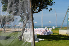 Trauungsplatz im tropischen Land in dem Meer Lizenzfreie Stockbilder