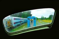 Carros ferroviarios viejos imagen de archivo