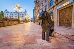 A través de las calles de Oviedo Foto de archivo libre de regalías