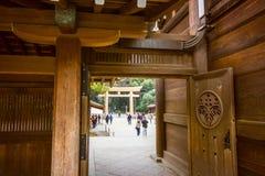 A través de las puertas del templo a la puerta de Tourii foto de archivo libre de regalías