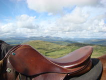 A través de los oídos Coniston de los caballos fotografía de archivo libre de regalías