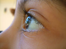 A través de un ojo de Childs Foto de archivo libre de regalías