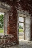 A través de ventana y de puerta Imágenes de archivo libres de regalías