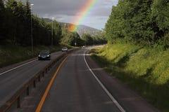 A través del arco iris Imágenes de archivo libres de regalías