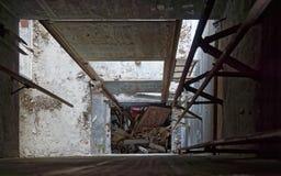 A través del eje de elevador foto de archivo libre de regalías
