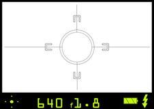 A través del fichero del vector del visor de la cámara Fotos de archivo