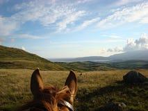 A través del valle de Duddon de los oídos de los caballos Imagen de archivo
