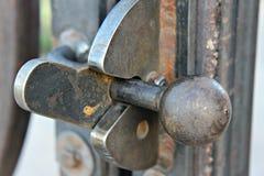 Trava da porta do ferro Fotografia de Stock
