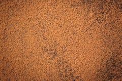 Trava kakaopulver, bakgrund av en torr pulverkakaobrunt, hög av Royaltyfria Bilder