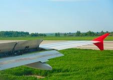 Travagem após a aterragem Imagem de Stock Royalty Free