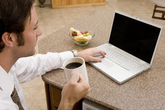travail à domicile images libres de droits
