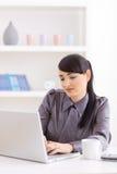 travail à domicile de femme d'affaires Images stock