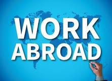 Travail à l'étranger images stock