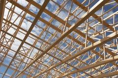 Travail énorme de bois de construction photo stock