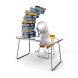 Travail blanc de 3d Person Tired Of Hard Office illustration de vecteur