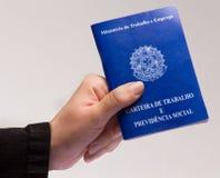 Travail brésilien de document Photo libre de droits