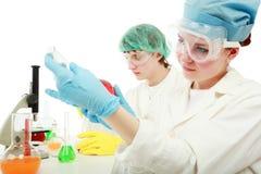 Travail chimique Photos stock