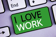 Travail conceptuel d'amour de l'apparence I d'écriture de main Les photos d'affaires textotent pour être heureuses que satisfaisa Images stock