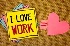 Travail conceptuel d'amour de l'apparence I d'écriture de main Les photos d'affaires textotent pour être heureuses que satisfaisa Photo stock